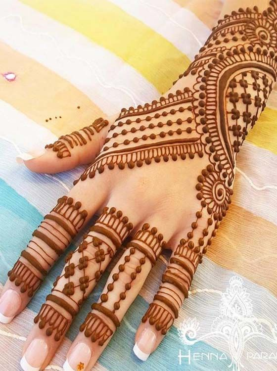 Gorgeous New Mehandi Henna Designs For 20182019 is part of Henna designs easy, Henna designs, Mehandi henna, Finger henna designs, Wedding henna designs, Best mehndi designs - Mehandi is used by women and girls from many last years to decorate their hands and feet  Girls and women can find here the gorgeous new designs of mehandi for 20182019