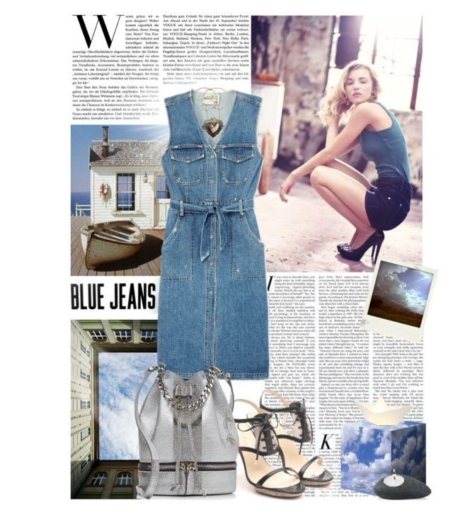 """""""A piece of sky"""" by amethystes ❤ liked on Polyvore featuring Sea, New York, Skitsch, Polaroid, Nuance, MANU Atelier, women's clothing, women, female, woman and misses"""