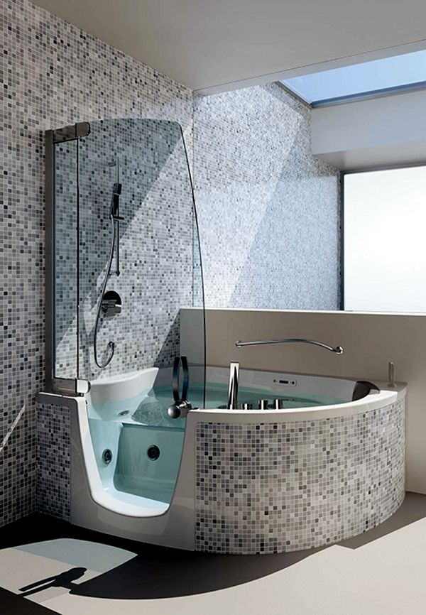 Acrylic bathtub | Bathrooms | Pinterest | Corner bath, Corner ...