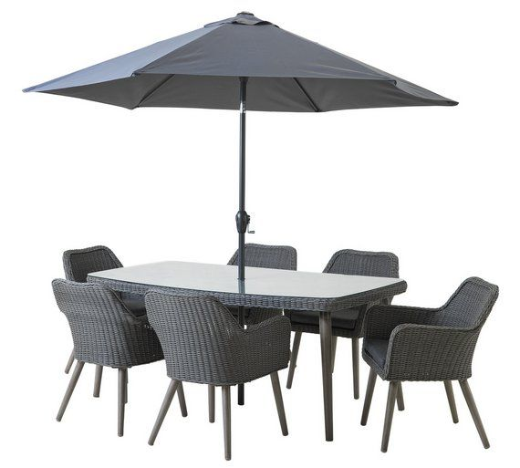 Buy Heart of House Rio Rattan Effect  Seater Dining Set at Argos