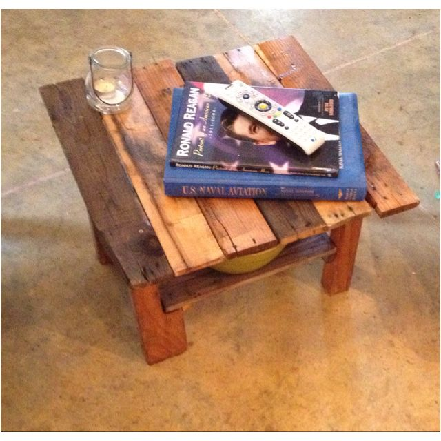 Small table made from wood pallets | Wood pallets, Pallet ...