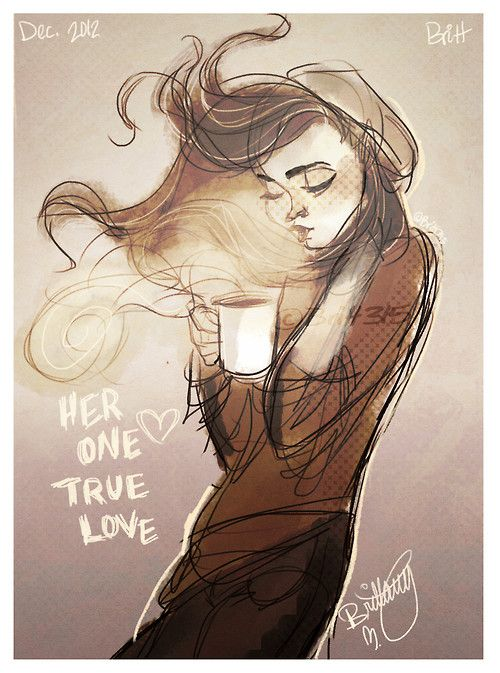 and her and her coffee lived happily ever after lol ;)