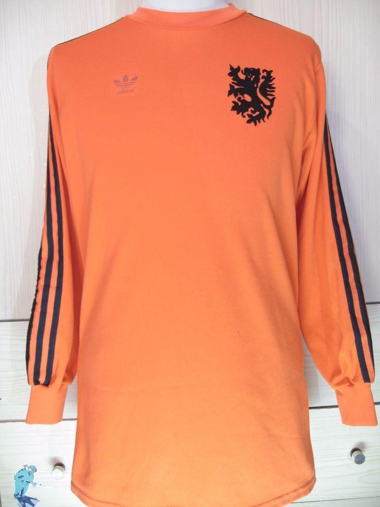 54f9f7b30e1 HOLLAND WORLD CUP 1974 ADIDAS GOALKEEPER GOALIE VINTAGE FOOTBALL SOCCER  SHIRT L