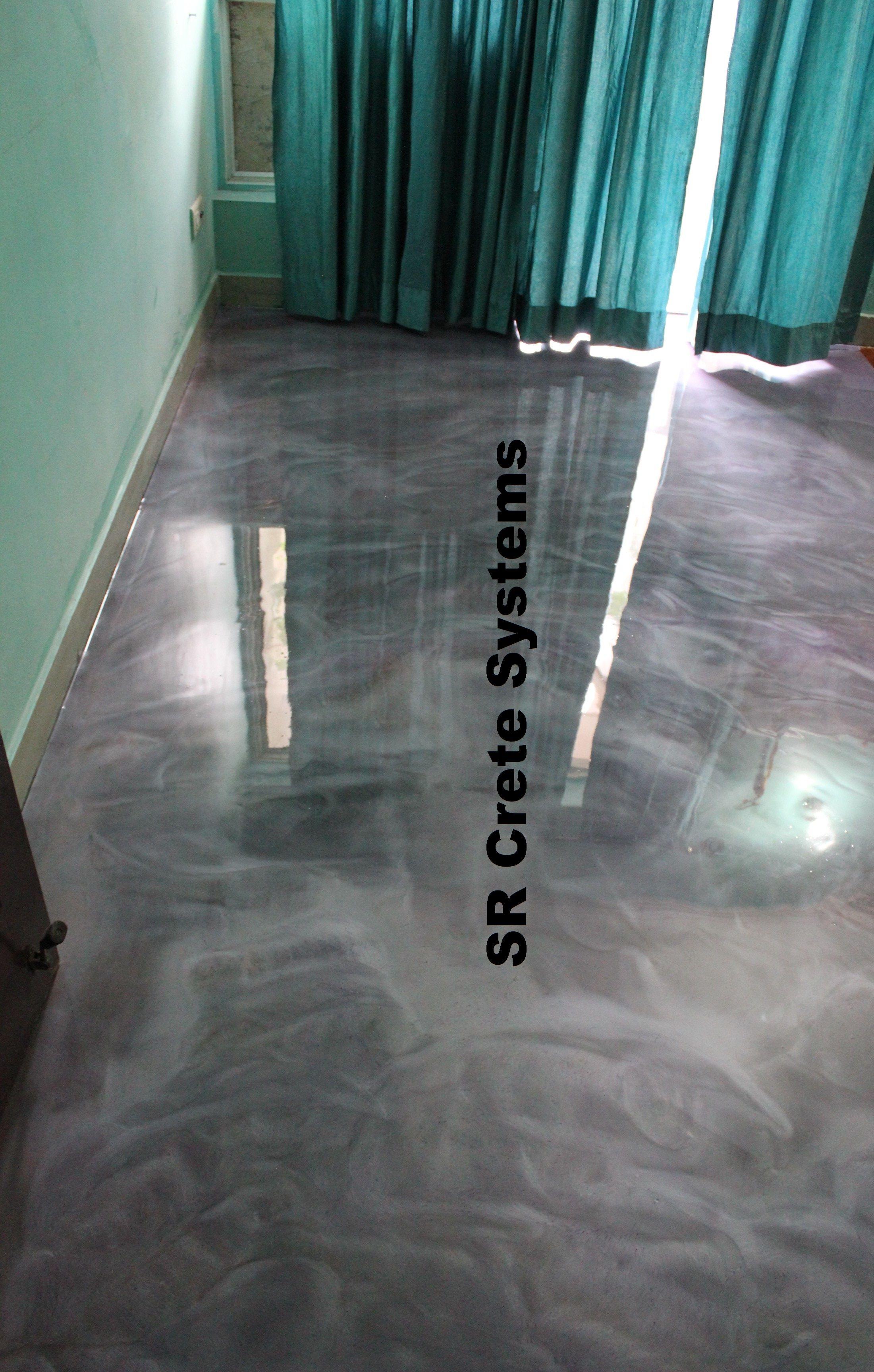 Designer metallic epoxy flooring for your kids bedroom in
