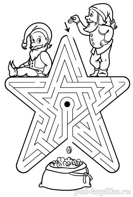 Лабиринты для детей 6-8 лет | Раскраски, Математические ...