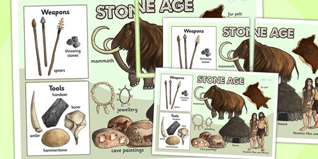 Ks2 The Stone Age The Stone Age Large Display Poster