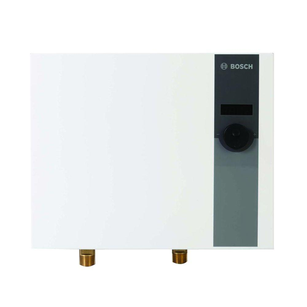 Bosch 27 Kw 220 240 Volt 4 0 Gpm Whole House Tankless Electric Water Heater Tronic 6000c Wh27 Electric Water Heater Water Heater Tankless Water Heater