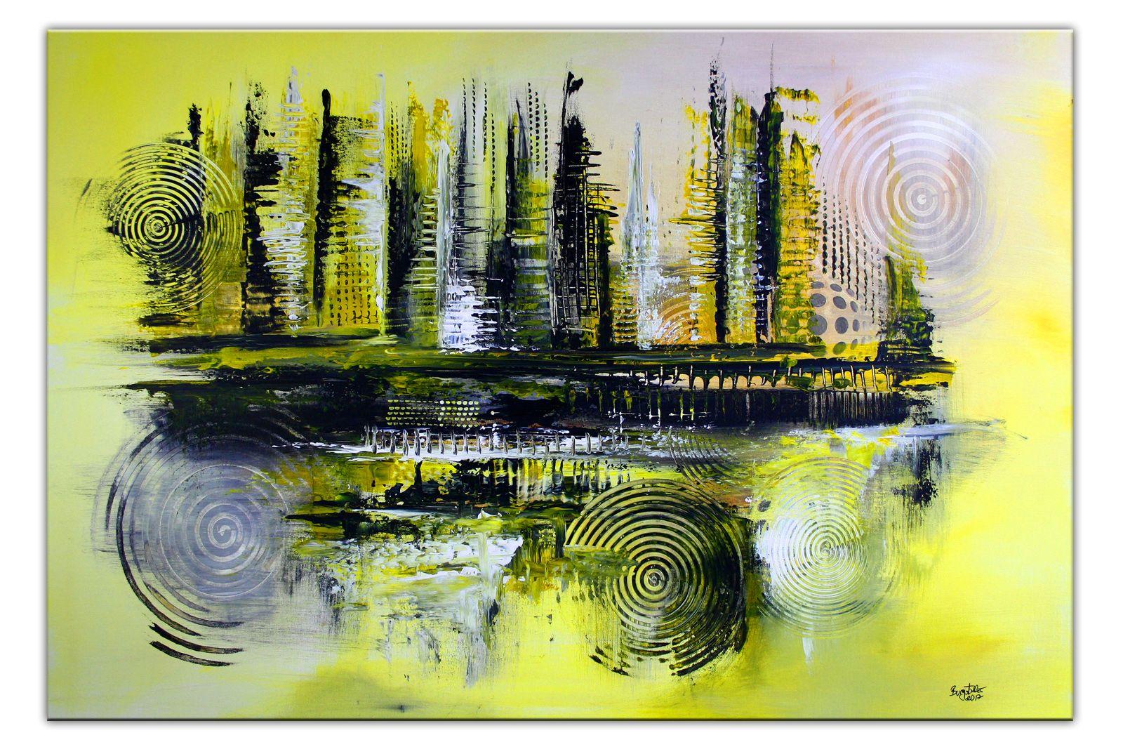245 Verkaufte Abstrakte Malerei Gelb Grau Schwarz Abstrakte Wandbilder Original Gemalde Kunst Malerei Kunstwerke Abstrakte Kunst Abstrakt Abstrakte Malerei