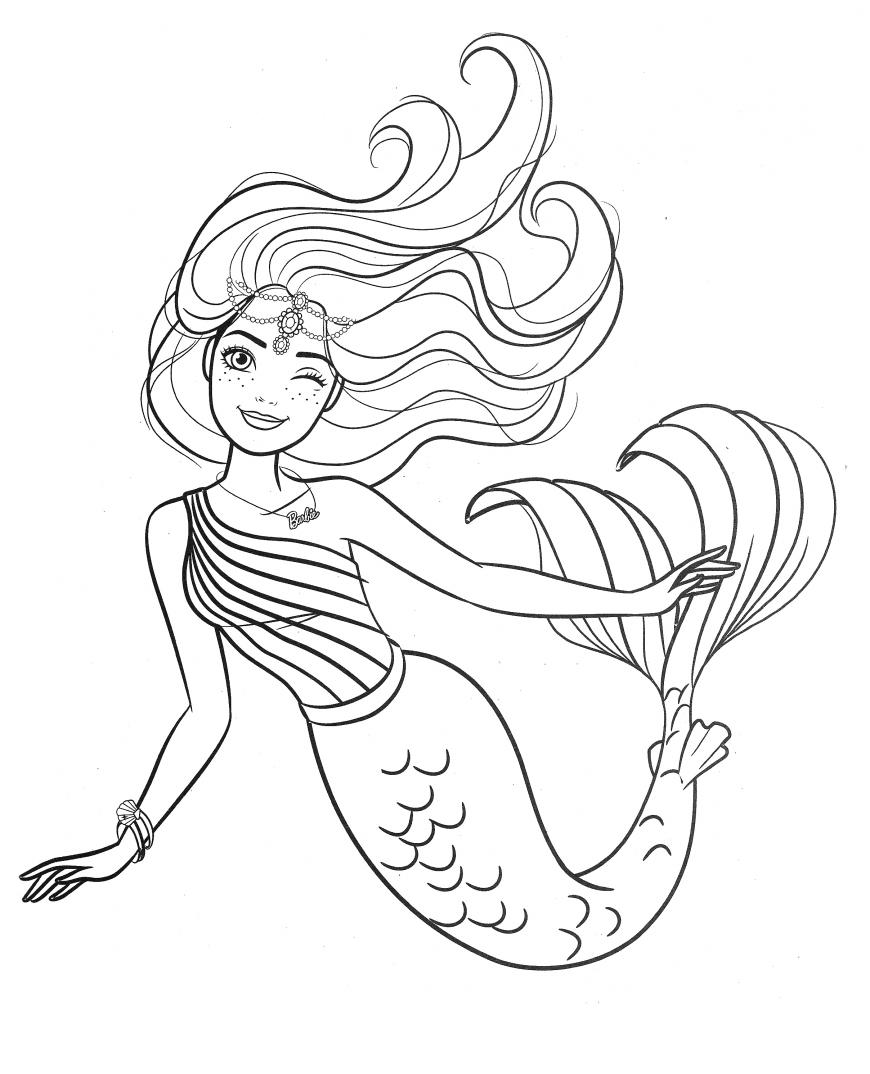Barbie Mermaid Coloring Page Mermaid Coloring Unicorn Coloring Pages Barbie Coloring Pages