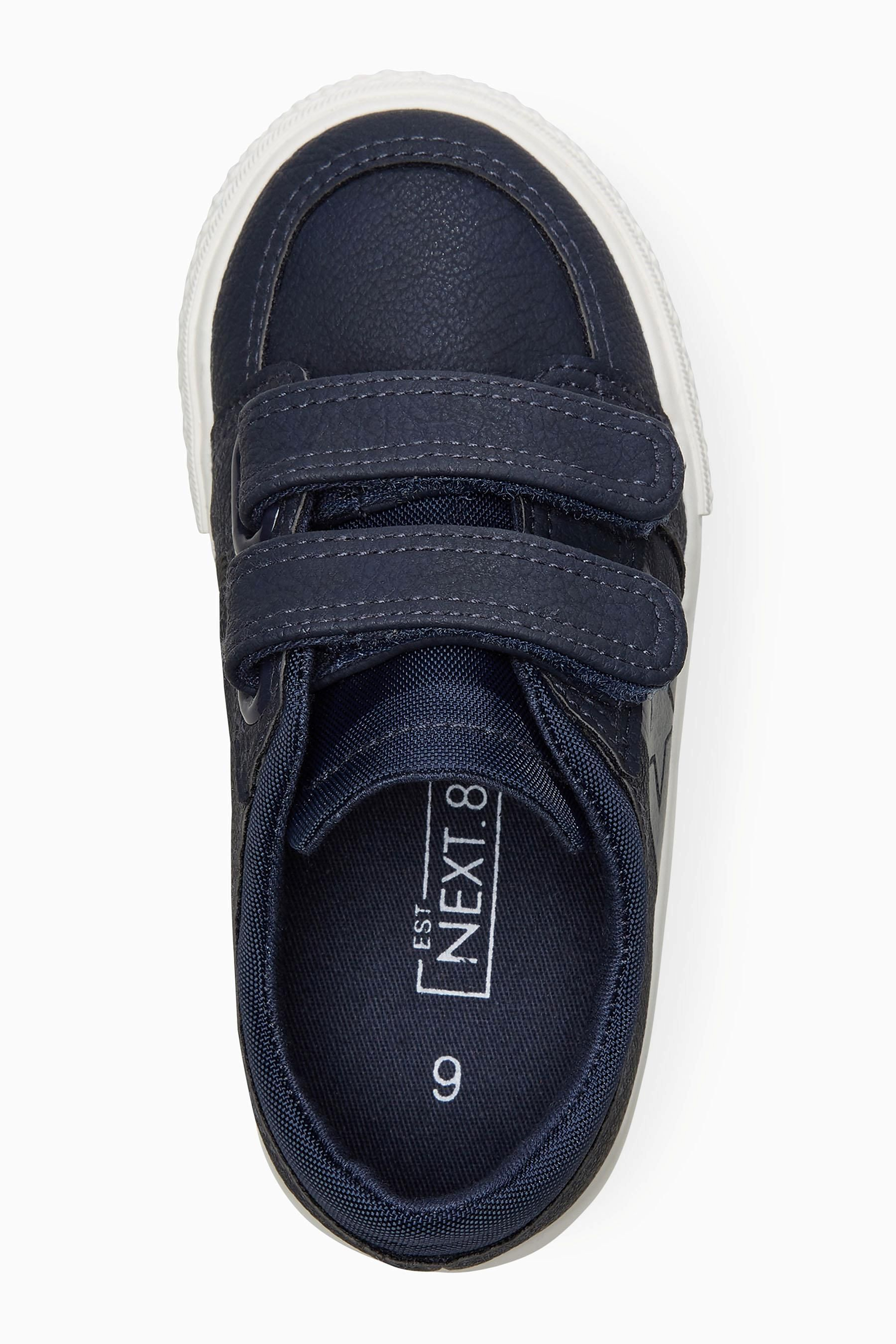 Buy Navy Double Strap Shoes (Younger