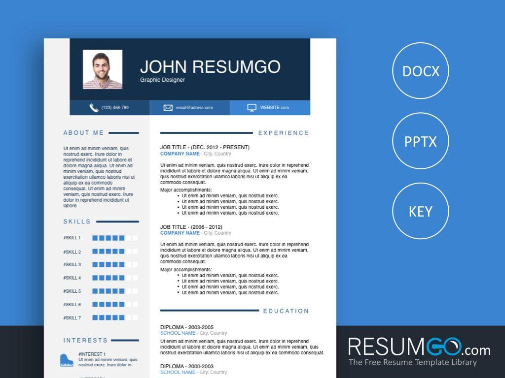 Ophelos free blue resume template resumgo resume