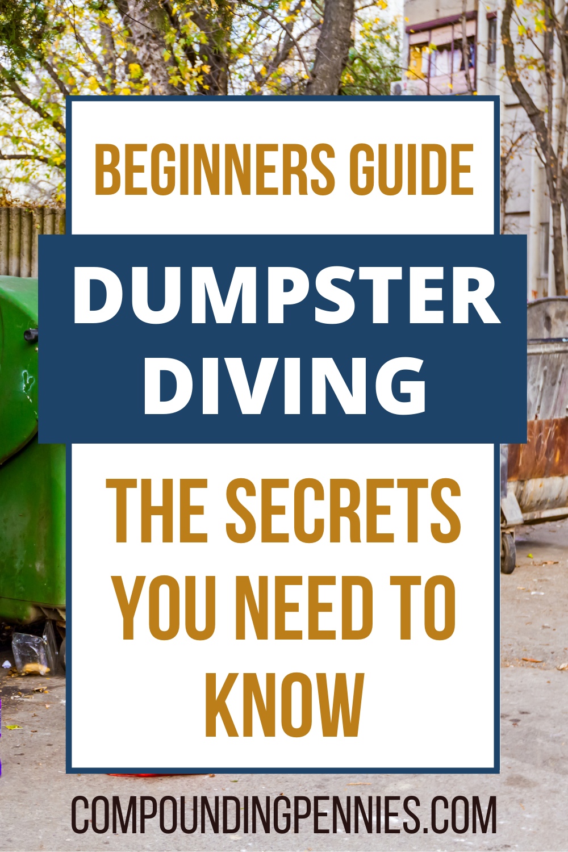 Frugal Dumpster Diving : frugal, dumpster, diving, Dumpster, Diving, Secrets, Massive, Profits, Frugal, Person,, You.…, Diving,, Dumpster,