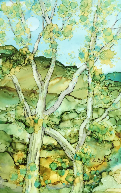 Pin de Kate McCredie en tree art   Pinterest   Acuarela