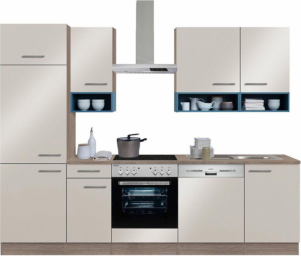 Optifit Küchenzeile mit E-Geräten,»Korfu« Breite 270 cm Jetzt - küchenblock ohne e geräte