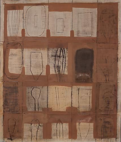 "Mark Goodwin, 2011   Hint 1 , rabbit skin glue, pigment, graphite, milk paint  42.5"" x 36"""