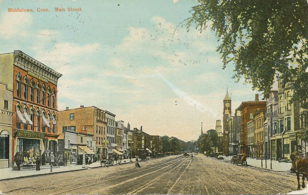 Middletown Ct Main Street 1912 Collectibles Postcards Us
