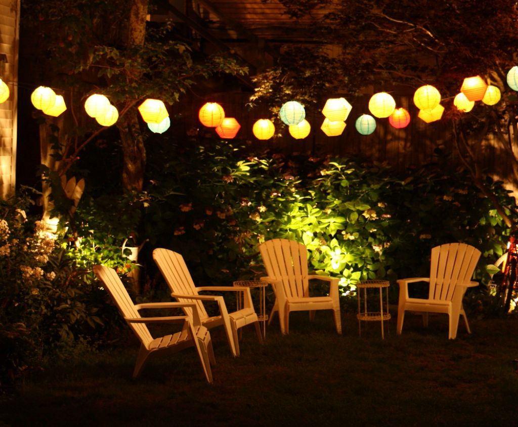 Amazing Hanging Lights For Patio Patio String Lights Summer Evening With  Dramatical Effect