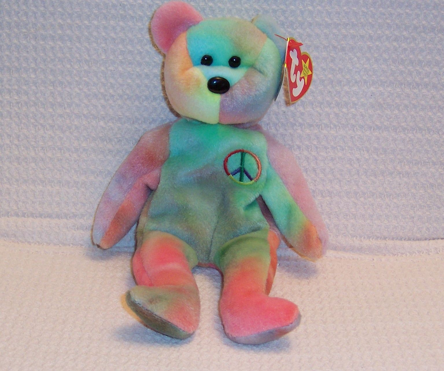 2e3913e753d Rare Ty Beanie Baby Peace Bear Original With Tag Errors Collectible FOR  SALE •  5