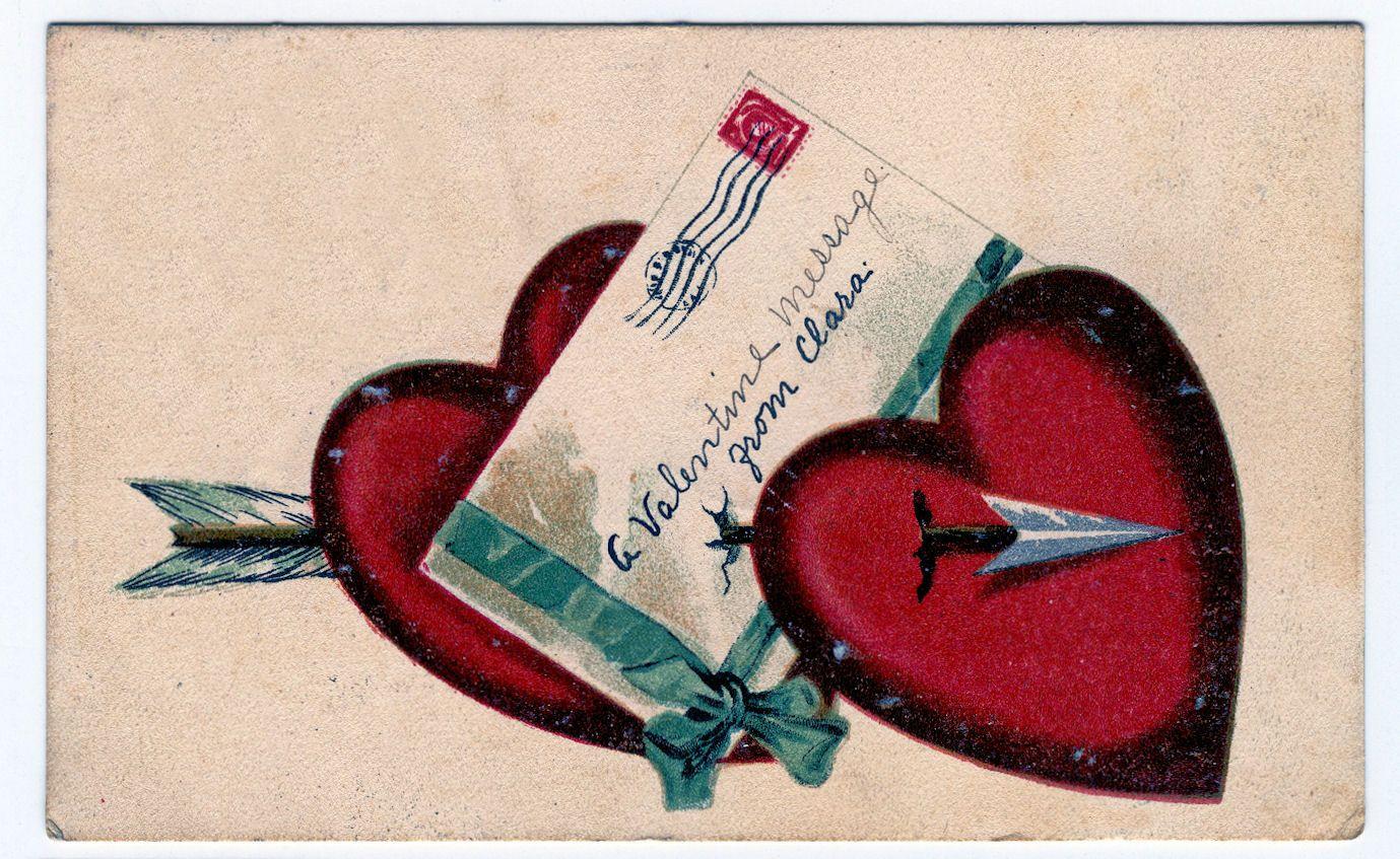 Free Valentine Clip Art Old Postcards Cherub Marie Holidays