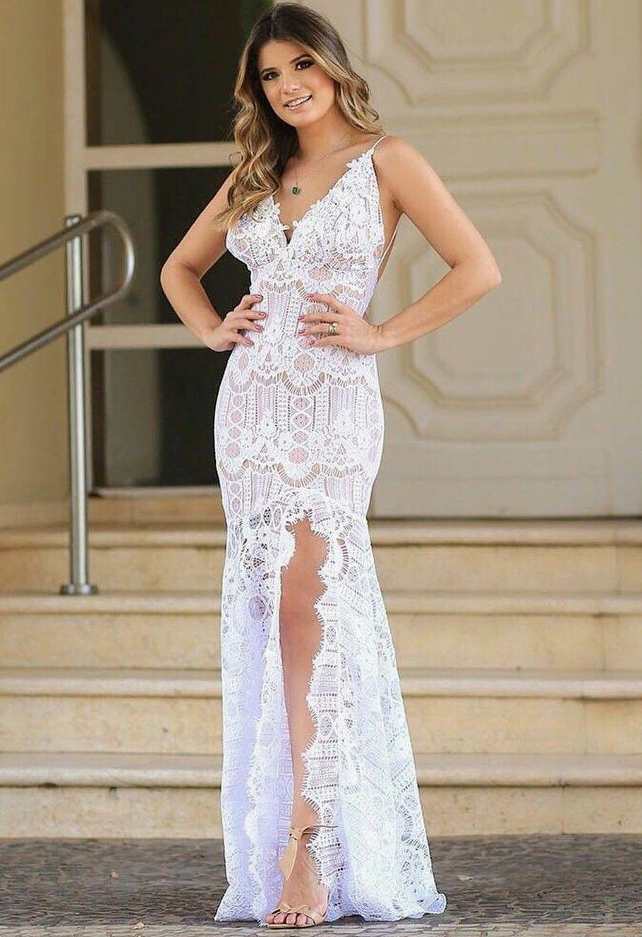 412225c26 Vestido civil Vestido Festa, Vestido Básico, Vestido Noiva Curto, Vestido  De Noiva Simples