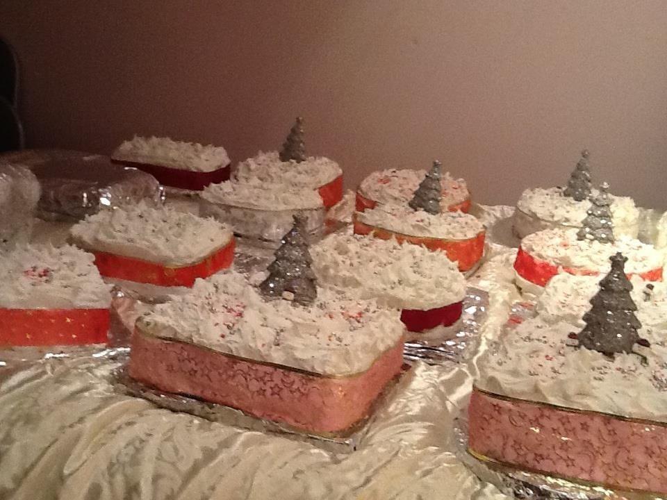 Rich brandy laden Christmas fruitcake...
