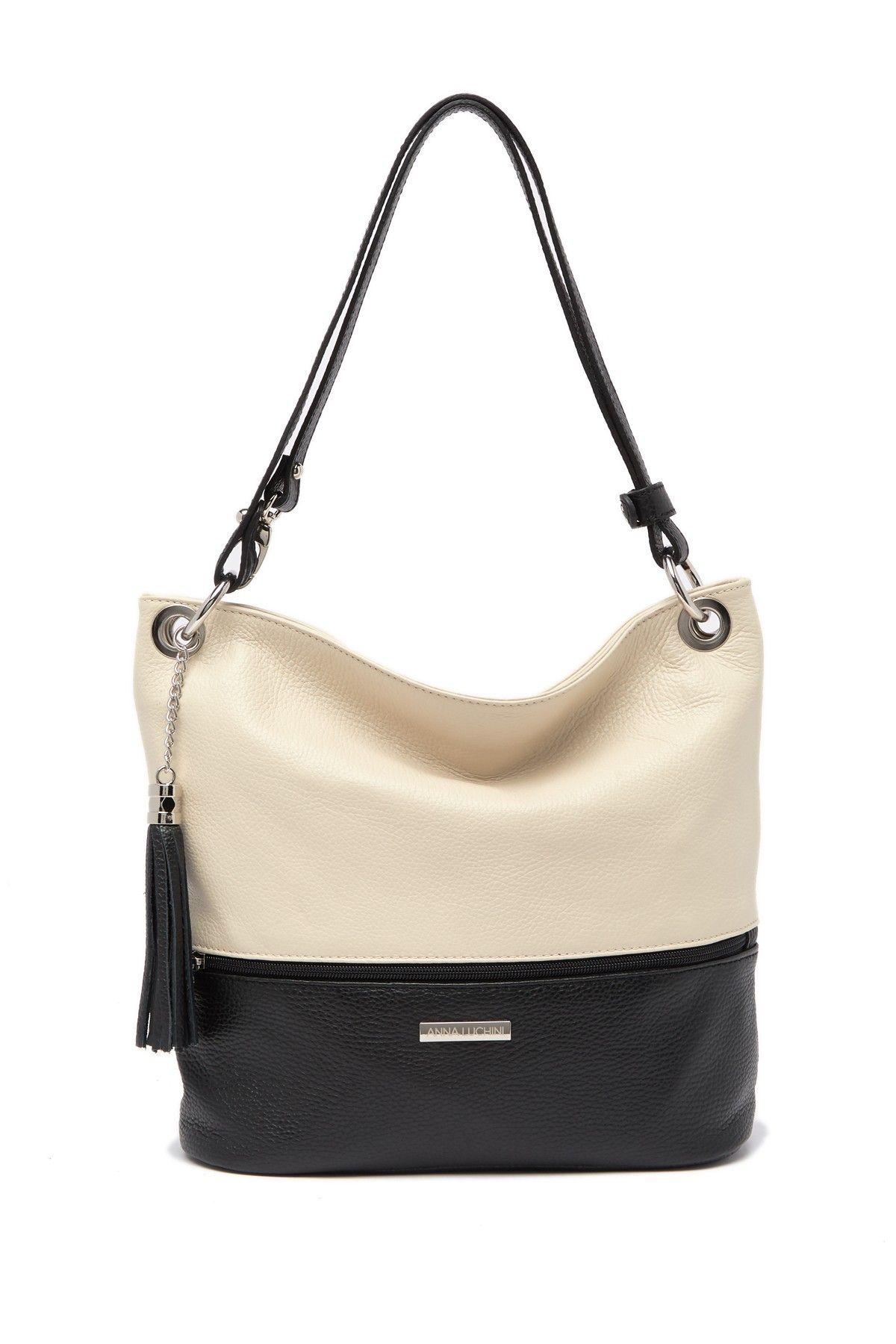 Anna Luchini | Zip Detail Leather Shoulder Bag #nordstromrack