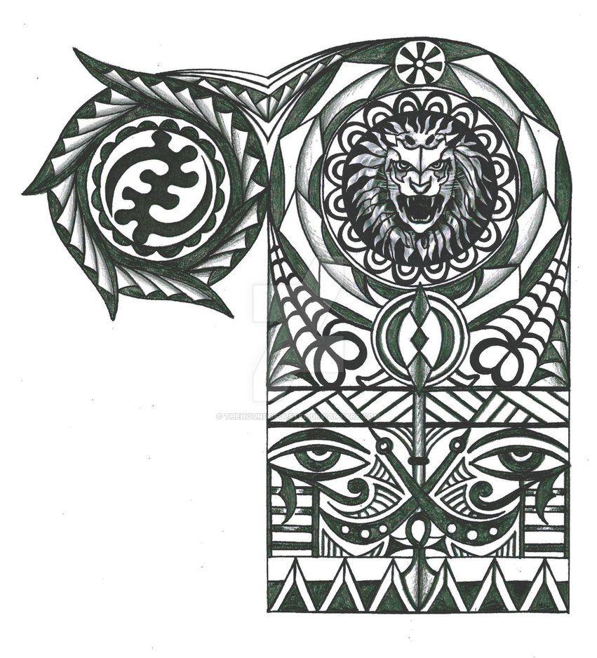 Warriors Tattoo Adinkra-page-001 By Thehoundofulster On