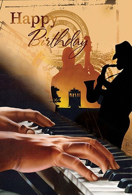 Birthday Male Playing Piano Happy Birthday African American