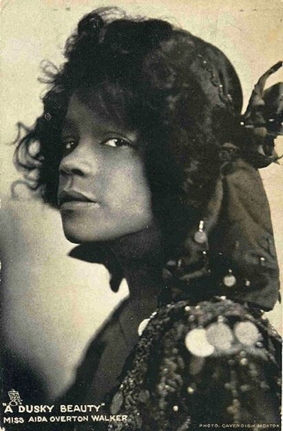 """A Dusky Beauty"" says the caption -- What a wonderful shot of her expressive face and proud attitude! Aida Overton Walker, The Vaudeville Actress Who Refused To Be A Stereotype"
