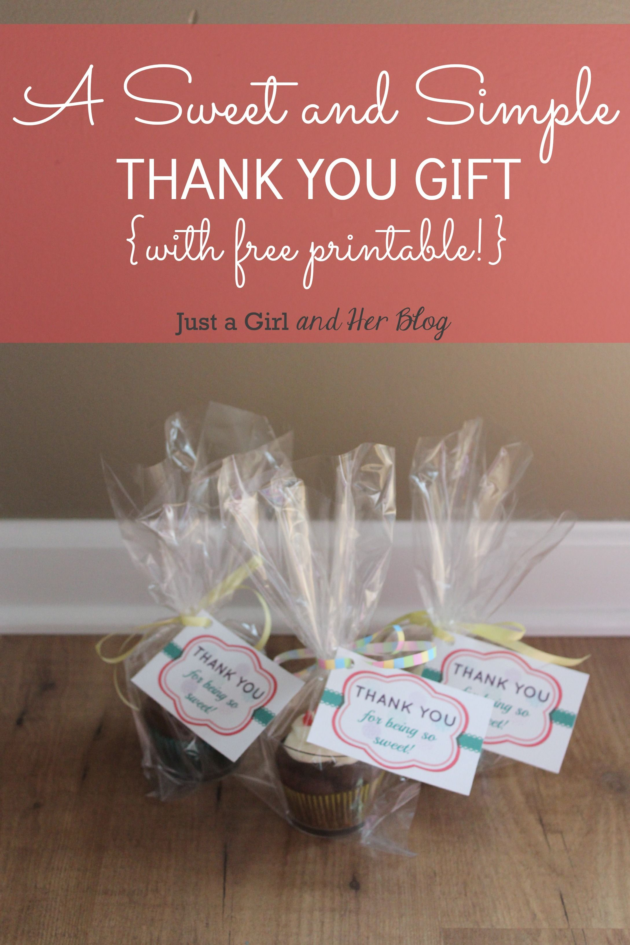 A Sweet & Simple Thank You Gift {With Free Printable}