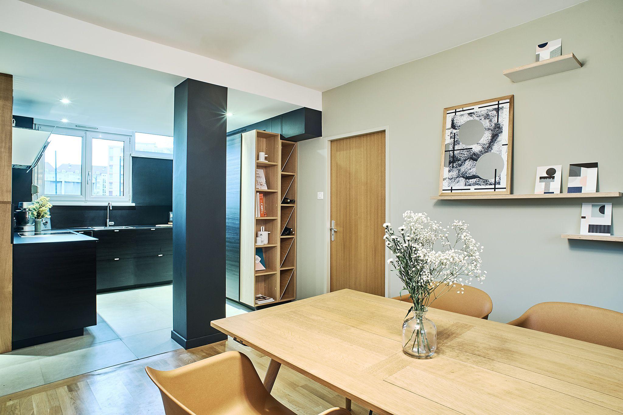 Architecture Et Decoration D Un Appartement De 65m2 Ektor Studio Deco Maison Appartement Decoration Maison