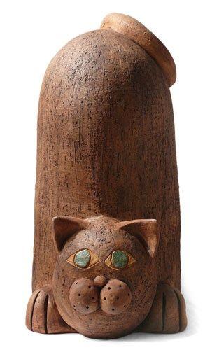 Ceramic cat by Eva Trbušková