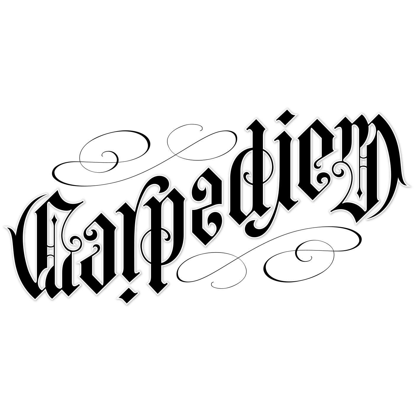 Carpe diem ambigram by john langdon