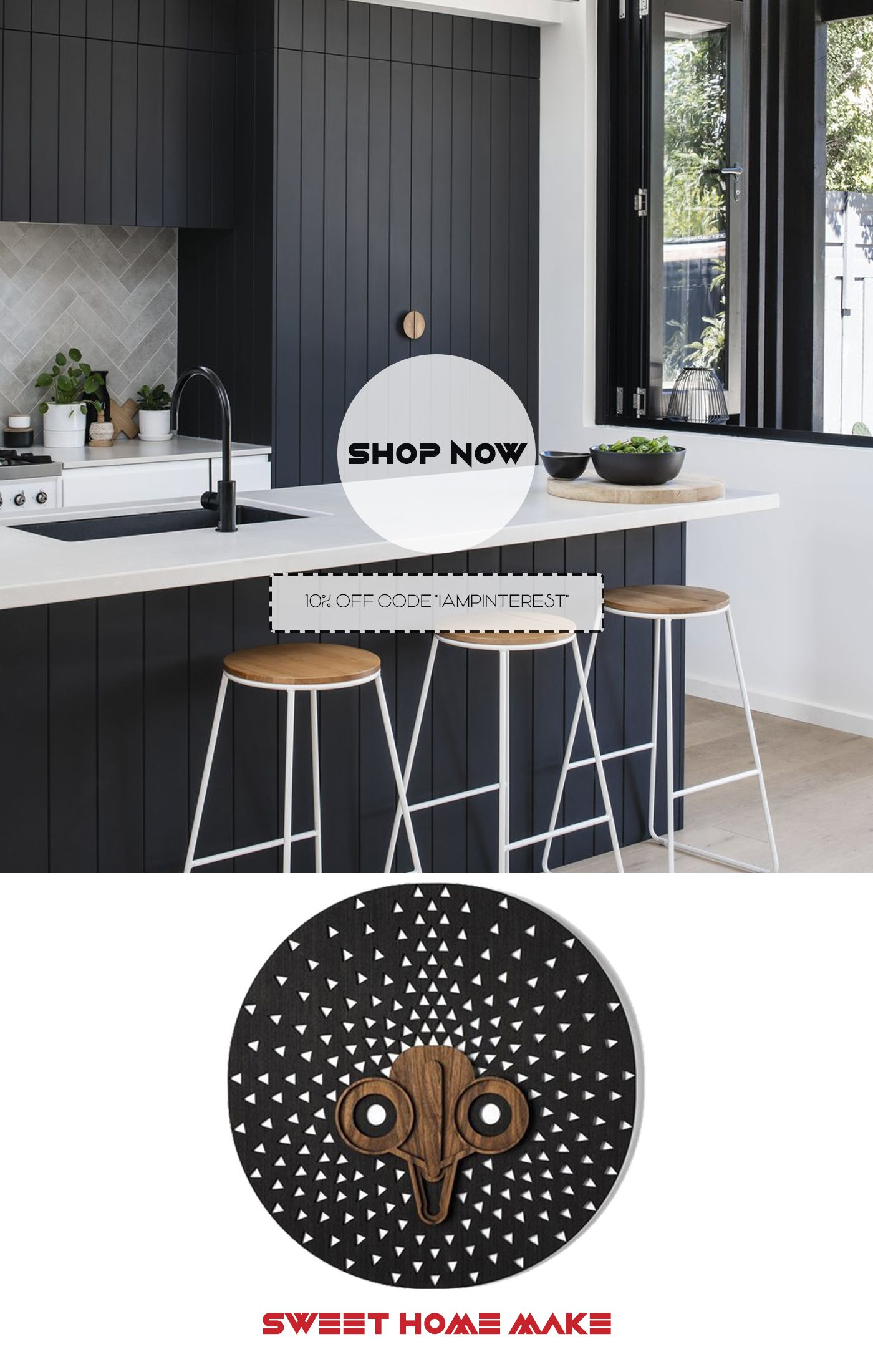 Black And White Wall Art For Black Kitchen Interior Design White Wall Art Black And White Wall Art Interior Design Kitchen
