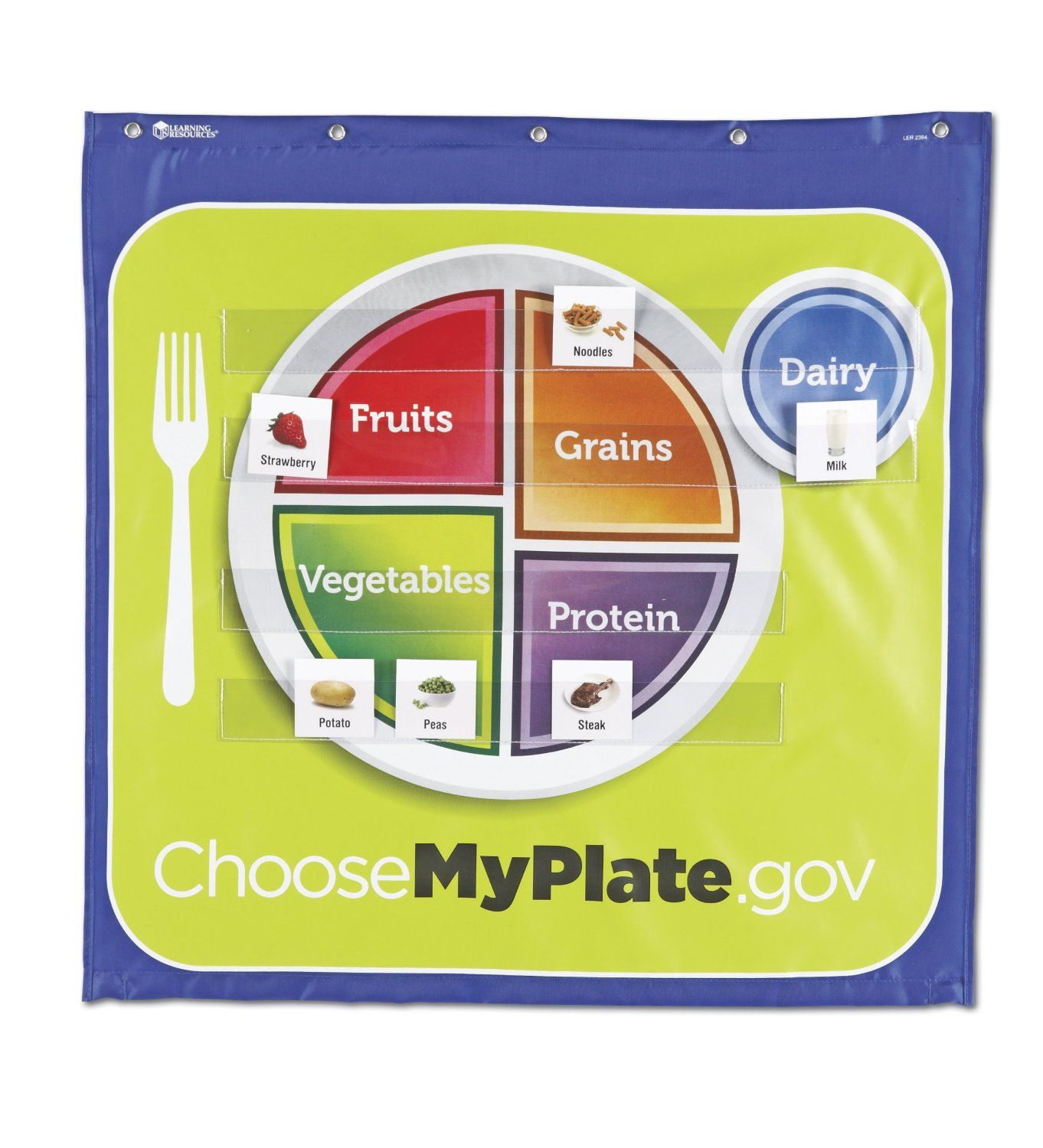 Learning Resources Healthy Helpings A Myplate Pocket Chart