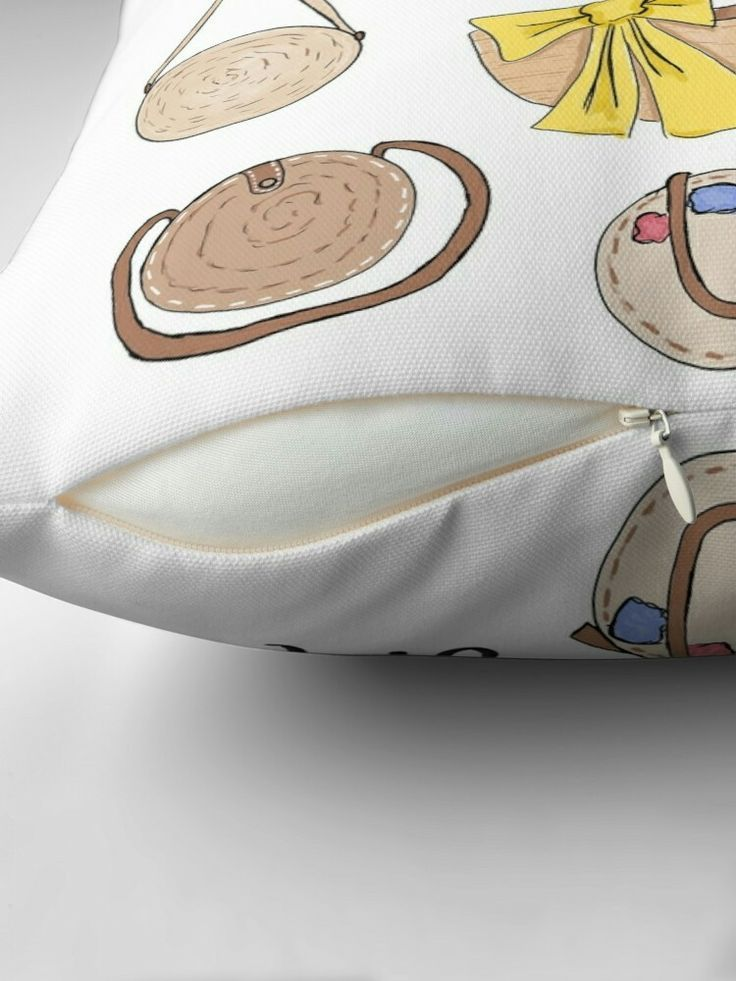 Summer Straw Bag print – Fashion Illustration for Girls, Teens, and Ladies   Throw Pillow – 2019 - Pillow Diy