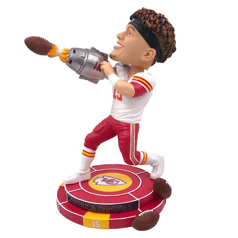 Patrick Mahomes Kansas City Chiefs Cannon Arm Bobblehead (PREORDER - SHIPS  BY 12 10 2018) 853488a1f
