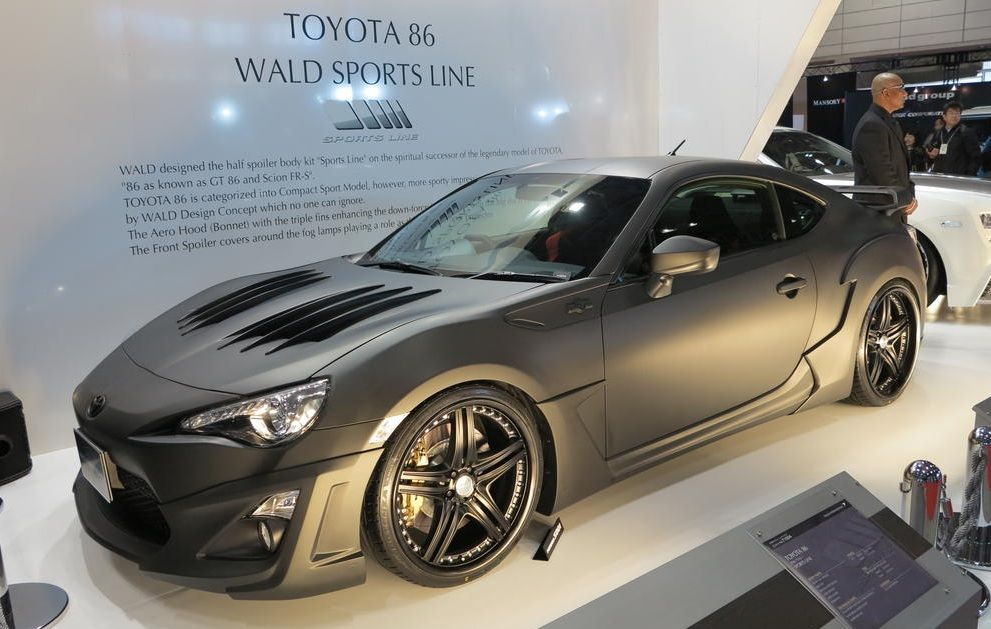 scion fr s matte black. wald body kit for scion frs at 2013 tokyo auto salon fr s matte black