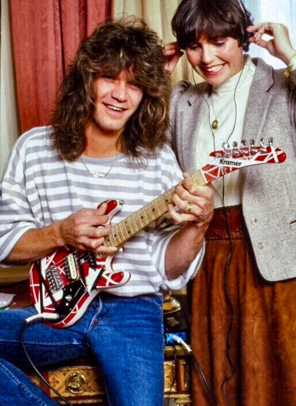 Eddie And A Mini Frank Van Halen Eddie Van Halen Heavy Metal Music
