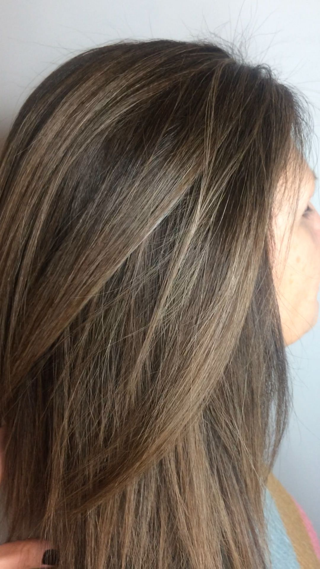Photo of Beautiful balayage brown hair