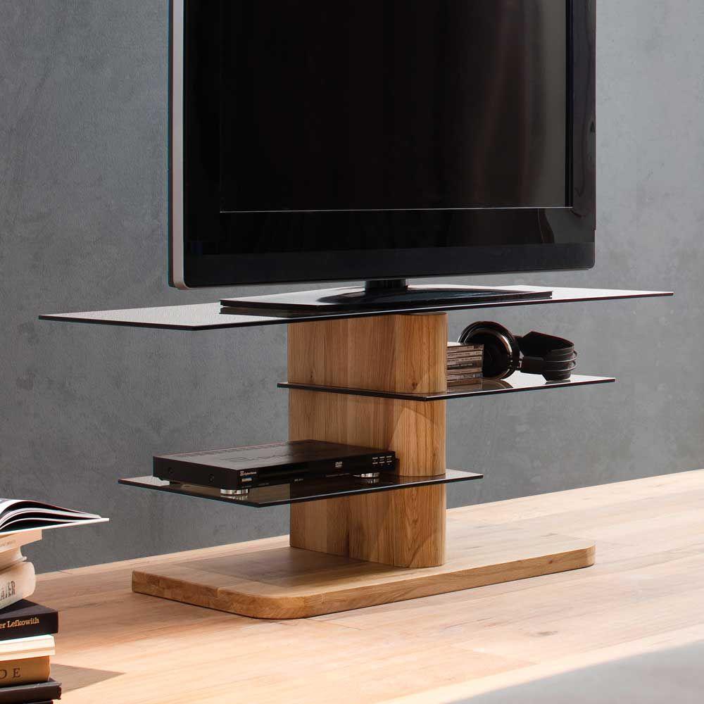 Tv Rack Aus Eiche Massivholz Glas Jetzt Bestellen Unter