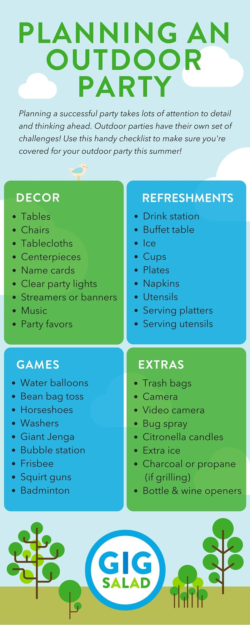 All you need to plan an outdoor party smoking bbq party for How to plan a party