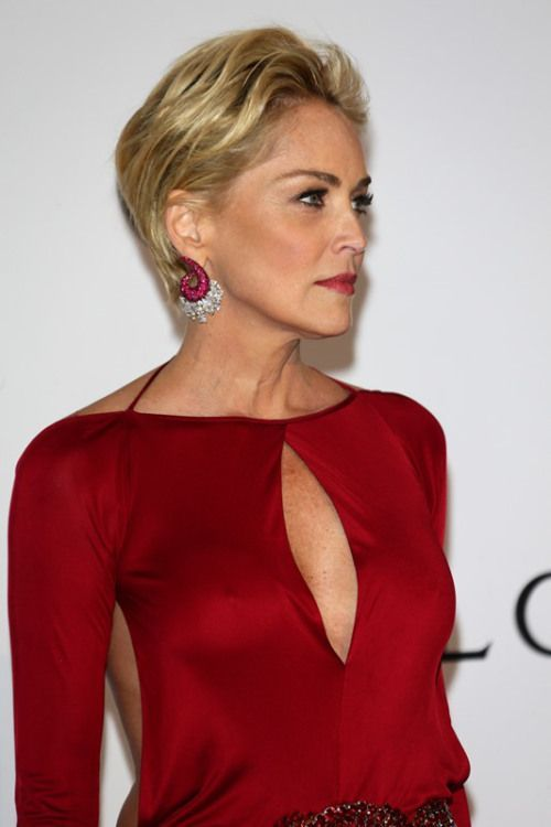 Sharon Stone Short Hairstyle For Women Over 50 Kapsels In 2018