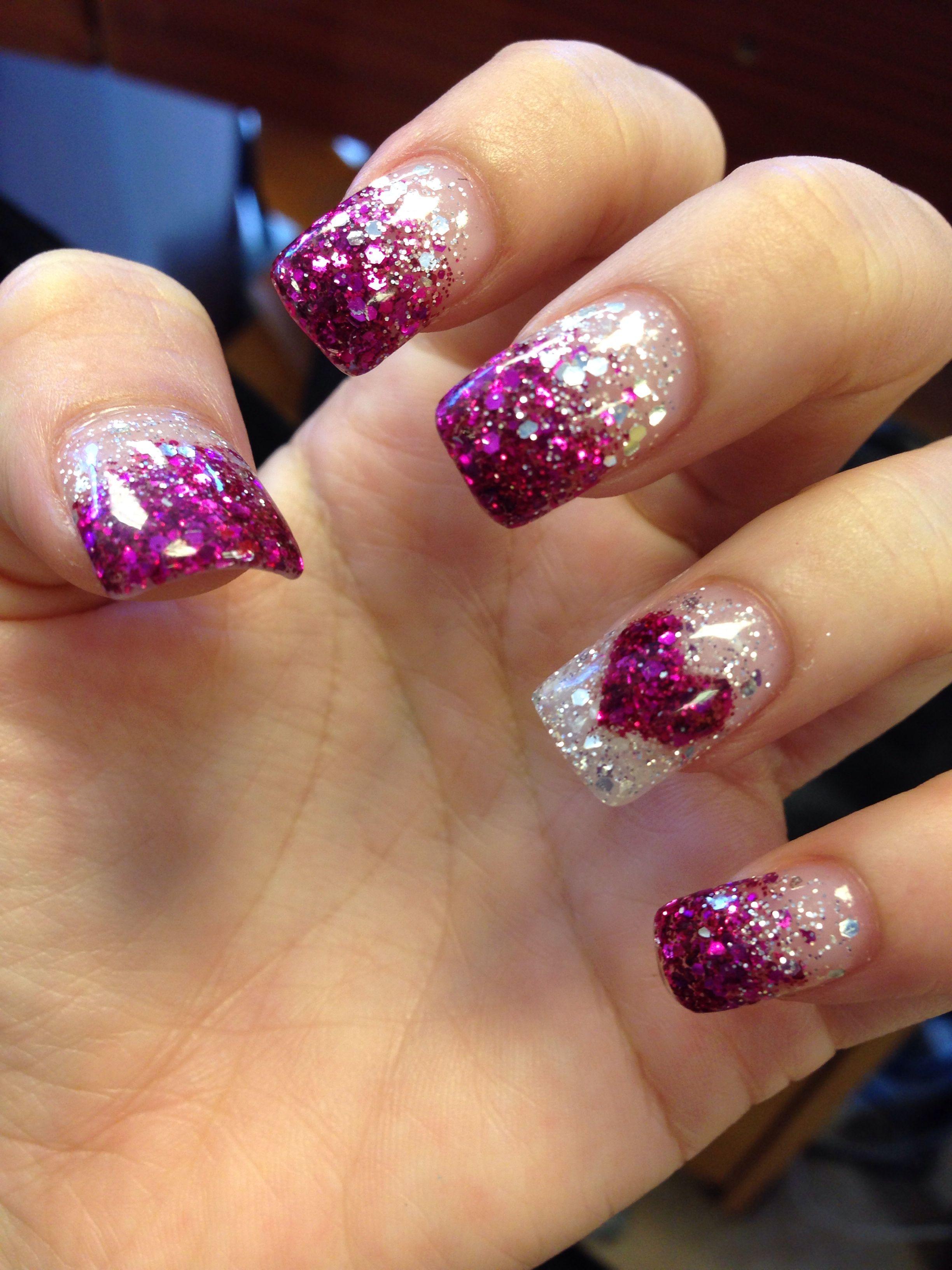 Purple glitter faded nails. | Nails | Pinterest | Diseños de uñas ...
