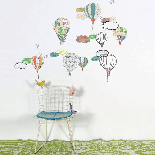 Lovely Hot Air Balloon Wall Sticker For Children And Babies