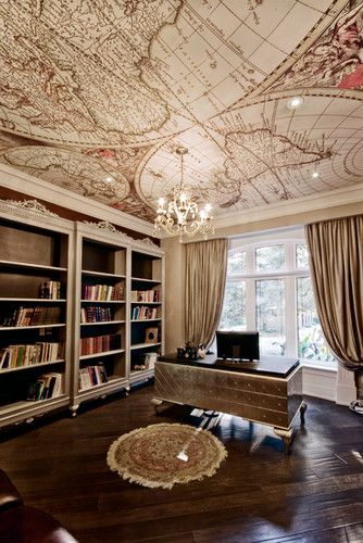 Modern Home Office Library