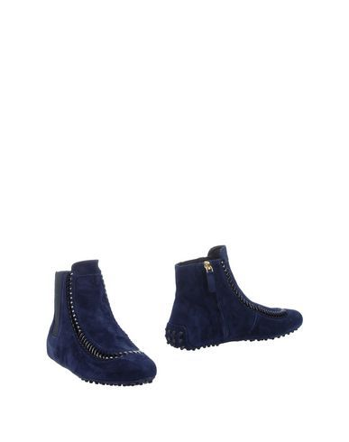TOD'S Women's Ankle boots Dark blue 8.5 US