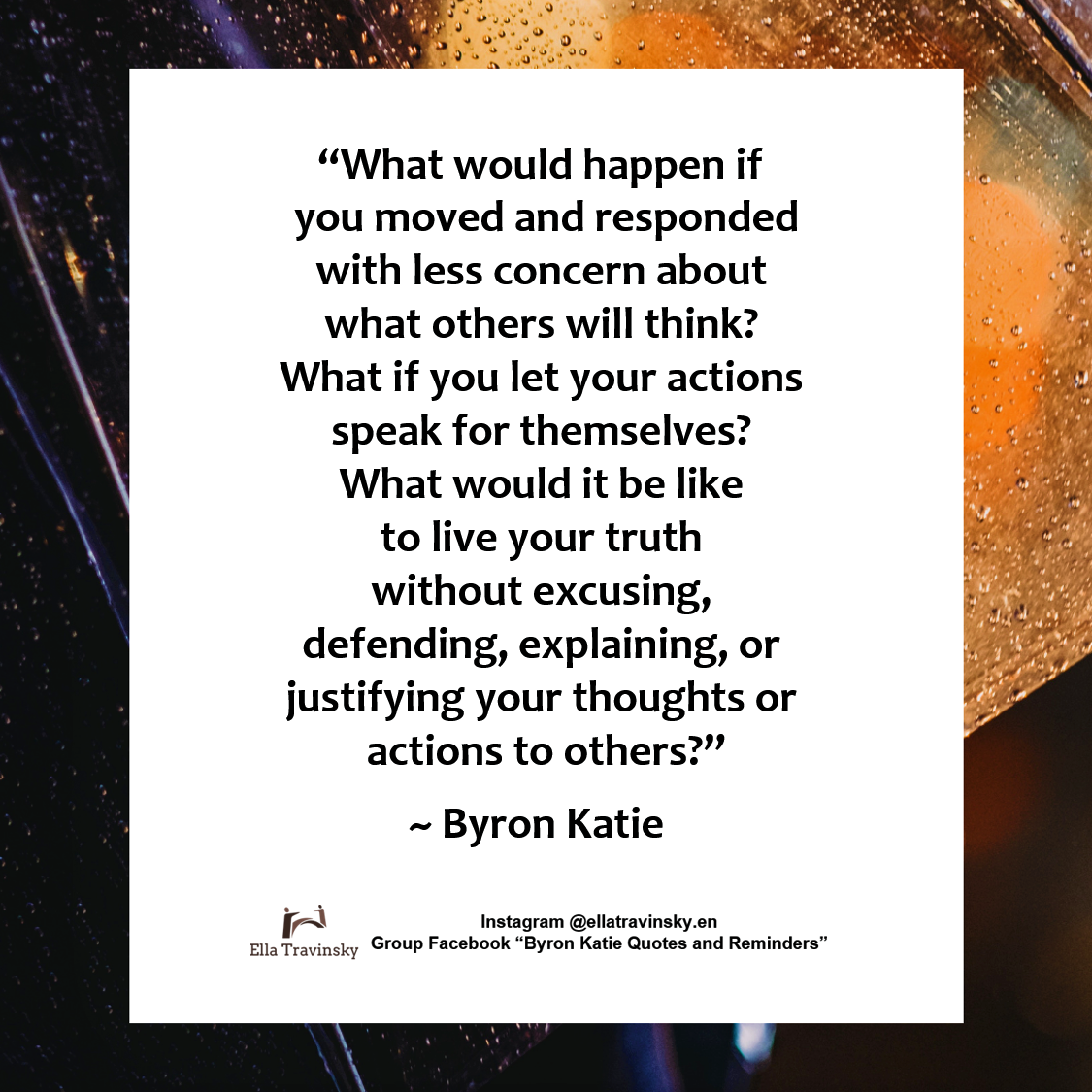 What would happen if you moved and responded with less ...