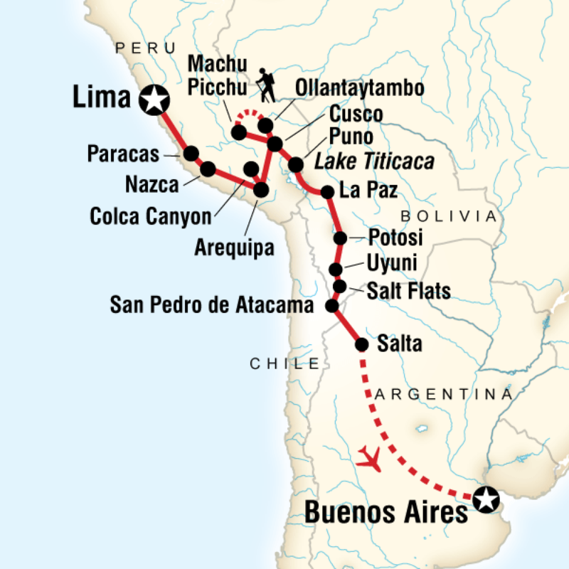 Lima Peru Karte.G Adventures South America Trip Itinerary Backpack Planning Begins