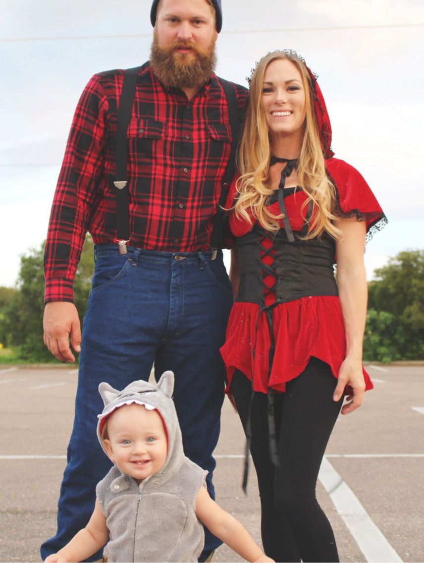Little Red Riding Hood Couples  Family Costume Halloween 2015 Infant Big Bad Wolf, Mommy Red -3003